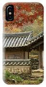 Seonamsa In Autumn IPhone Case