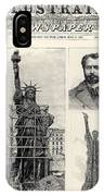 Statue Of Liberty, 1885 IPhone Case