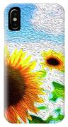 Sunflowers Abstract IPhone Case