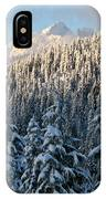 Sunlight Covered Trees In The Mountains Of British Columbia IPhone Case