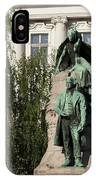 The Statue Of France Preseren And His Muse IPhone Case