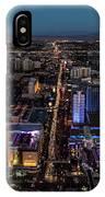 the Strip at night, Las Vegas IPhone Case