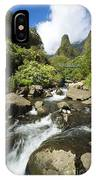 View Of Iao Needle IPhone Case