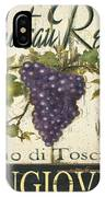 Vineyard Red Wine Sign IPhone Case