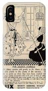 Clean Dainty Curtains Vintage Soap Ad IPhone Case
