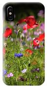 Wild Flowers And Red Poppies IPhone Case