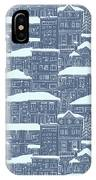 Winter Town Pattern  IPhone Case