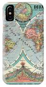 World Map In Two Hemispheres  IPhone Case