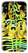 Yellow Lilies, Hand Drawn Painting IPhone Case