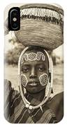 Young Boy From The African Tribe Mursi, Ethiopia IPhone Case