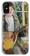 Young Boy With A Balalaika Nikolai Petrovich Bogdanov-belsky IPhone Case