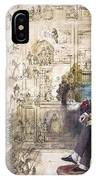 Charles Dickens 1812-1870.  To License For Professional Use Visit Granger.com IPhone Case