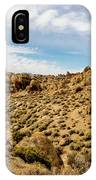 Rocks, Mountains And Sky At Alabama Hills, The Mobius Arch Loop  IPhone Case