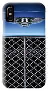 2007 Bentley Continental Gtc Convertible Hood Ornament IPhone Case