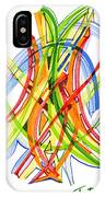 2010 Abstract Drawing Seven IPhone Case