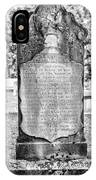 201406030-020k Old Tall Head Stone Bw 2x3 IPhone Case