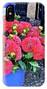 2016 Monona Farmer's Market Blue Bucket Of Dahlias IPhone Case