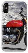 2016 Triumph Cafe Racer Motorcycle IPhone Case