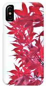 2017 Red Maple 3 IPhone Case