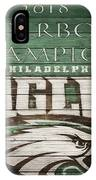 2018 Superbowl Eagles Barn Wall IPhone Case