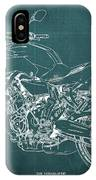 2018 Yamaha Mt07 Blueprint Green Background Fathers Day Gift IPhone Case