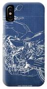 2018 Yamaha Mt07,blueprint,blue Background,fathers Day Gift, 2018 IPhone Case