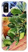 #203 Blue Oak Leaves 2 IPhone Case