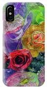 21a Abstract Floral Painting Digital Expressionism IPhone Case