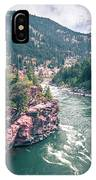 Kootenai River Water Falls In Montana Mountains IPhone Case
