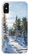 Amazing Landscape With Frozen Snow-covered Trees In Winter Morning  IPhone Case