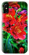 2647- Red Flowers IPhone Case