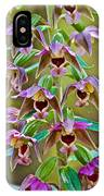 Helleborine On North Country Trail In Pictured Rocks National Lakeshore-michigan  IPhone Case