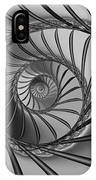 2x1 Abstract 434 Bw IPhone Case
