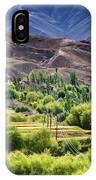aerial view of Leh ladakh landscape Jammu and Kashmir India IPhone Case