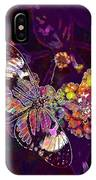 Butterfly Macro Pose Plant Green  IPhone Case