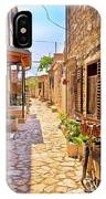 Colorful Mediterranean Stone Street Of Prvic Island IPhone Case