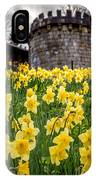 Daffodils And Bar Walls, York, Uk. IPhone Case