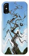 Dead Pine Tree Abstract IPhone Case