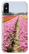 field of cultivated Buttercup  IPhone Case