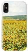 Field With Sunflowers IPhone Case