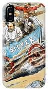 Free Silver Cartoon, 1896 IPhone Case
