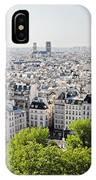 Gargoyle Guarding The Notre Dame Basilica In Paris IPhone Case