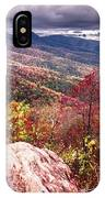 Graveyard Fields Overlook In The Smoky Mountains In North Caroli IPhone Case