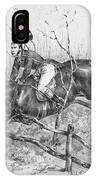 Horserider, C1840 IPhone Case