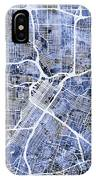 Houston Texas City Street Map IPhone Case