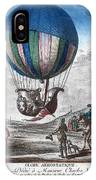 Hydrogen Balloon, 1783 IPhone Case