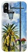 Lampost With Flowers In Nafplio Town IPhone Case