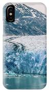 Magnificent Sawyer Glacier At The Tip Of Tracy Arm Fjord IPhone Case