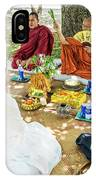 Monks Blessing Buddhist Wedding Ceremony In Cambodia IPhone Case
