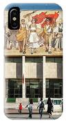 National Historical Museum Landmark And Mosaic Mural In Tirana A IPhone Case